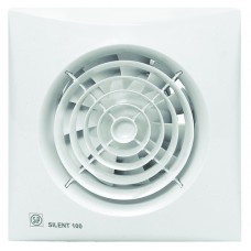 Eξαεριστήρας μπάνιου S&P SILENT 100CZ με ντάμπερ αντεπιστροφής (πεταλούδα) ΛΕΥΚΟ
