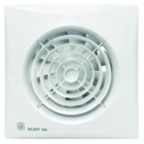 Eξαεριστήρας μπάνιου SILENT 300CRZ με ντάμπερ αντεπιστροφής(πεταλούδα) & ρυθμιζόμενη χρονοκαθυστέρηση 1-30min ΛΕΥΚΟ(ΕΩΣ 2 ΑΤΟΚΕΣ ΔΟΣΕΙΣ)
